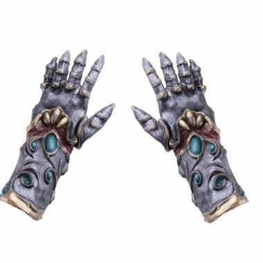 Verkleed alien/biomechanische handschoenen voor volwassenen