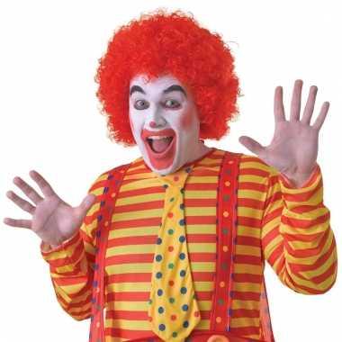 Verkleed clowns pruik rood voor volwassenen
