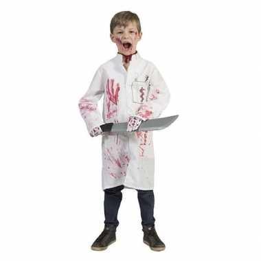 Verkleed doktersjas met dokterslogo voor kinderen