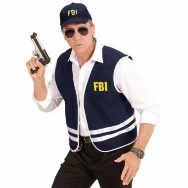 Verkleed fbi agent vest en petje voor volwassenen