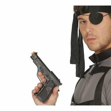 Verkleed fbi pistool/wapen zwart 19 cm