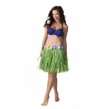 Verkleed groen hawaii hula rokje voor dames