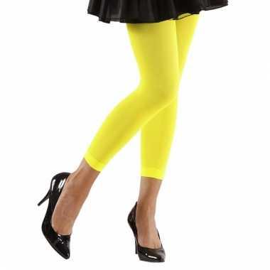 Verkleed legging neon geel voor dames