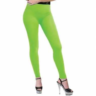 Verkleed legging neon groen voor dames