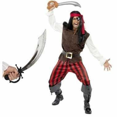 Verkleed piraten outfit voor heren maat l met zwaard