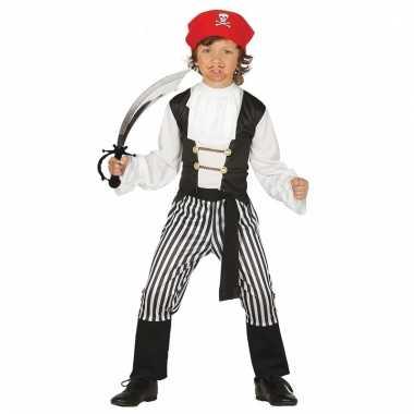 Verkleed piraten outfit voor kinderen maat 128-134 met zwaard