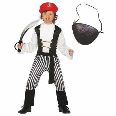 Verkleed piraten outfit voor kinderen maat 140-152