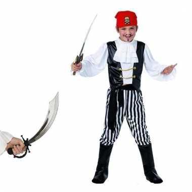 Verkleed piraten outfit voor kinderen maat l met zwaard