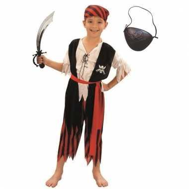 Verkleed piraten outfit voor kinderen maat l
