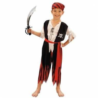 Verkleed piraten outfit voor kinderen maat m met zwaard