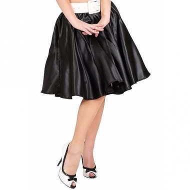 Verkleed rock and roll rok zwart voor dames