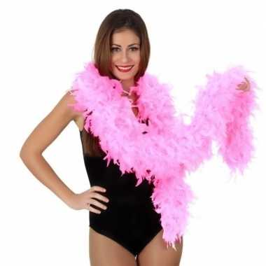 Verkleed roze luxe boa 100 grams