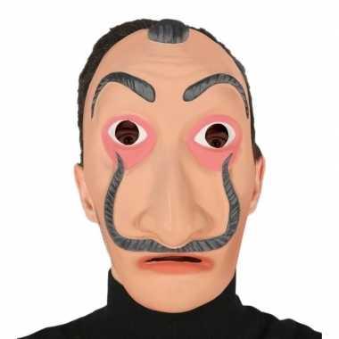 Verkleed salvador dali bankrover masker voor volwassenen