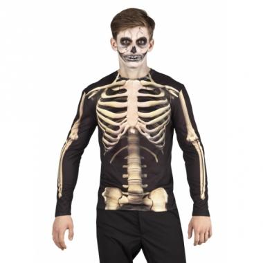 Verkleed t-shirt skelet heren