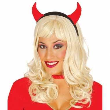 Verkleedaccessoires duivel hoorns voor dames