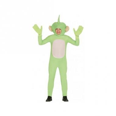 Verkleedkleding alien jumpsuit groen