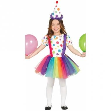 Verkleedkleding clown jurk voor meisjes