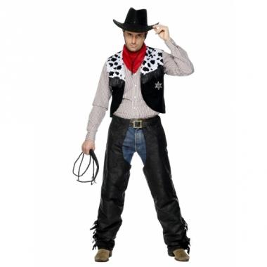 Verkleedkleding cowboy pak heren