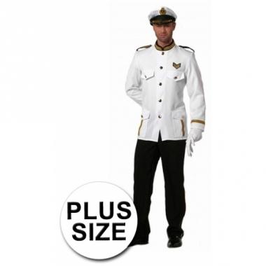 Verkleedkleding grote maten kapiteinspak heren