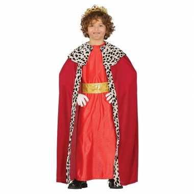 Verkleedkleding koning rood voor kinderen