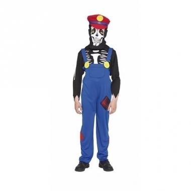 Verkleedkleding loodgieter horror skelet kostuum voor kinderen