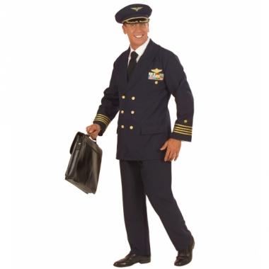 Verkleedkleding pilotenpak heren