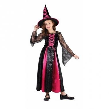 Verkleedkleding roze heksen jurkje voor meisjes