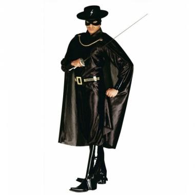 Verkleedkleding zorro kostuum heren