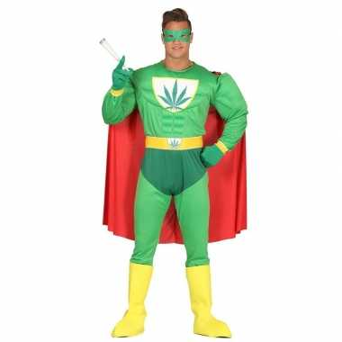 Verkleedpak wiet superheld voor volwassenen