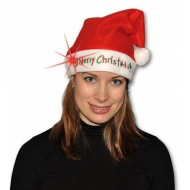 Verlichte kerstmuts merry christmas