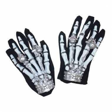 Verlichte skelet handschoenen
