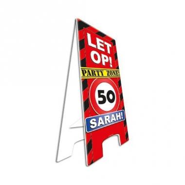 Versiering 50 jaar sarah bord