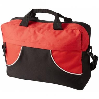 Verstelbare schoudertas zwart/rood