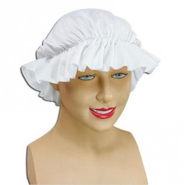 Victoriaans dienstmeisje mutsje wit