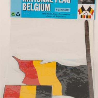 Vier belgie vlag stickers