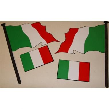 Vier italiaanse vlag stickers