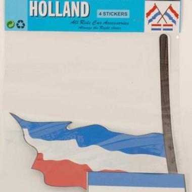 Vier nederlandse vlag stickers
