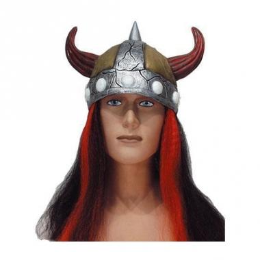 Viking helmen met haar
