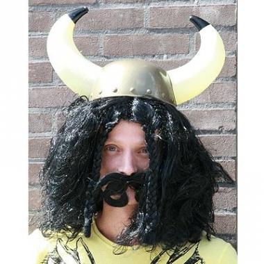 Viking pruiken zwart