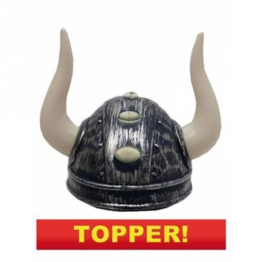 Vikinghelm met twee hoorns