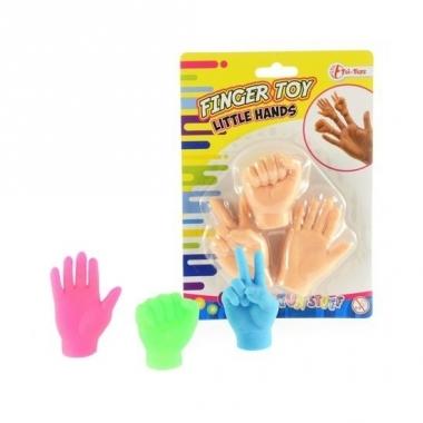 Vingerhandjes/poppetjes 3 kleuren