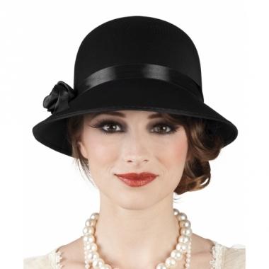 Vintage dames hoed zwart