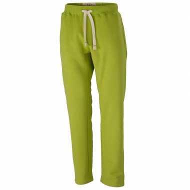 Vintage joggingbroek voor heren lime groene
