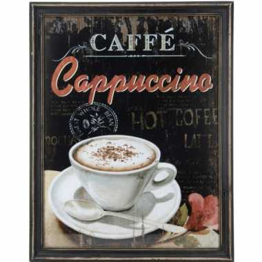Vintage muurdecoratie koffie cappuccino