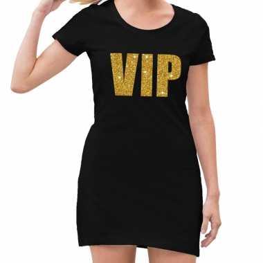 Vip fun jurkje zwart met goud voor dames