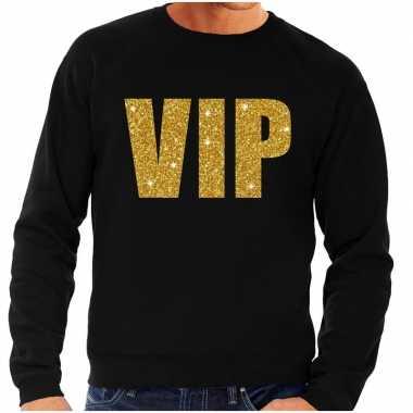 Vip fun sweater zwart met goud voor heren