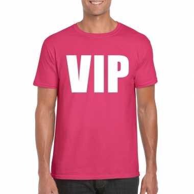 Vip fun t-shirt roze voor heren