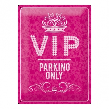 Vip thema muurdecoratie vip parking