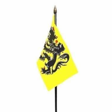 Vlaanderen vlaggetje polyester