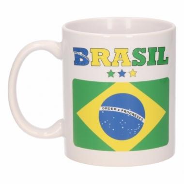 Vlag brazilie beker 300 ml